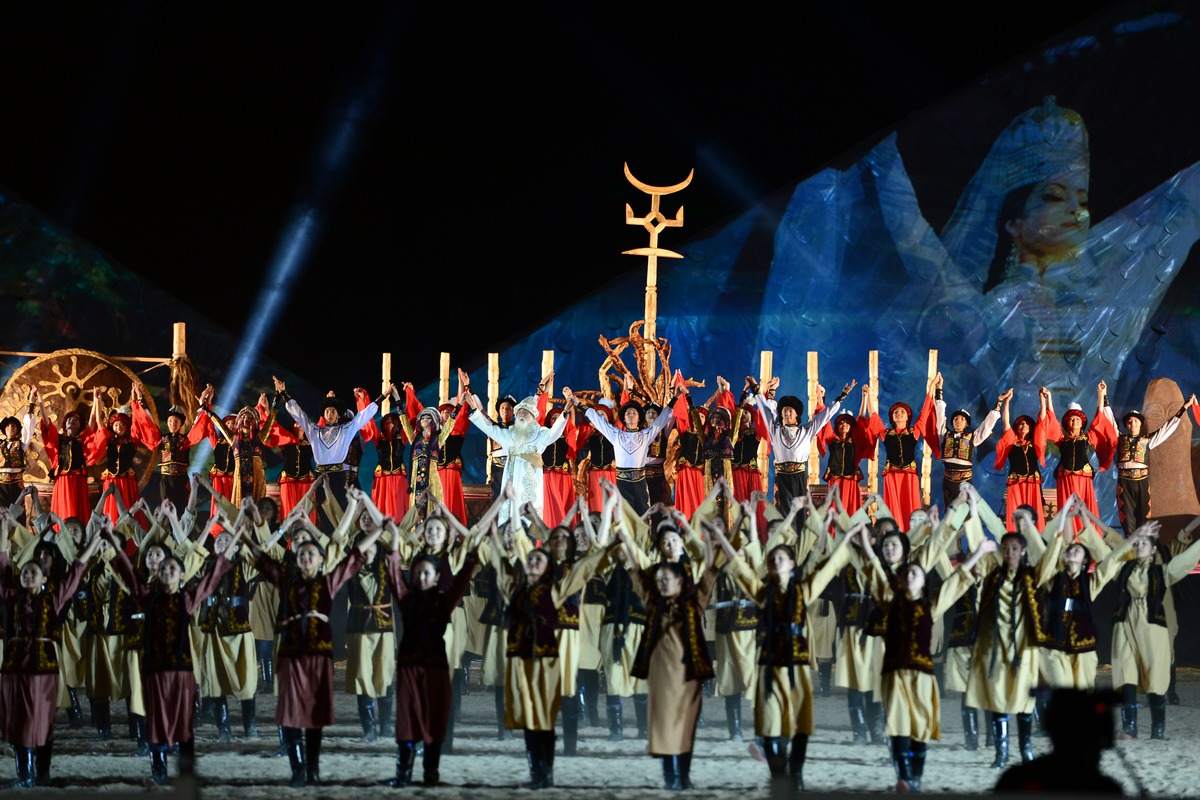 The Official Hymn of the World Nomad Games was Presented