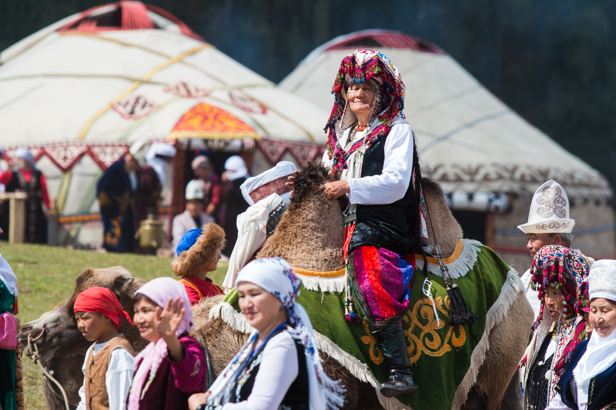The National Costume Competition is being held in Kyrchyn Gorge